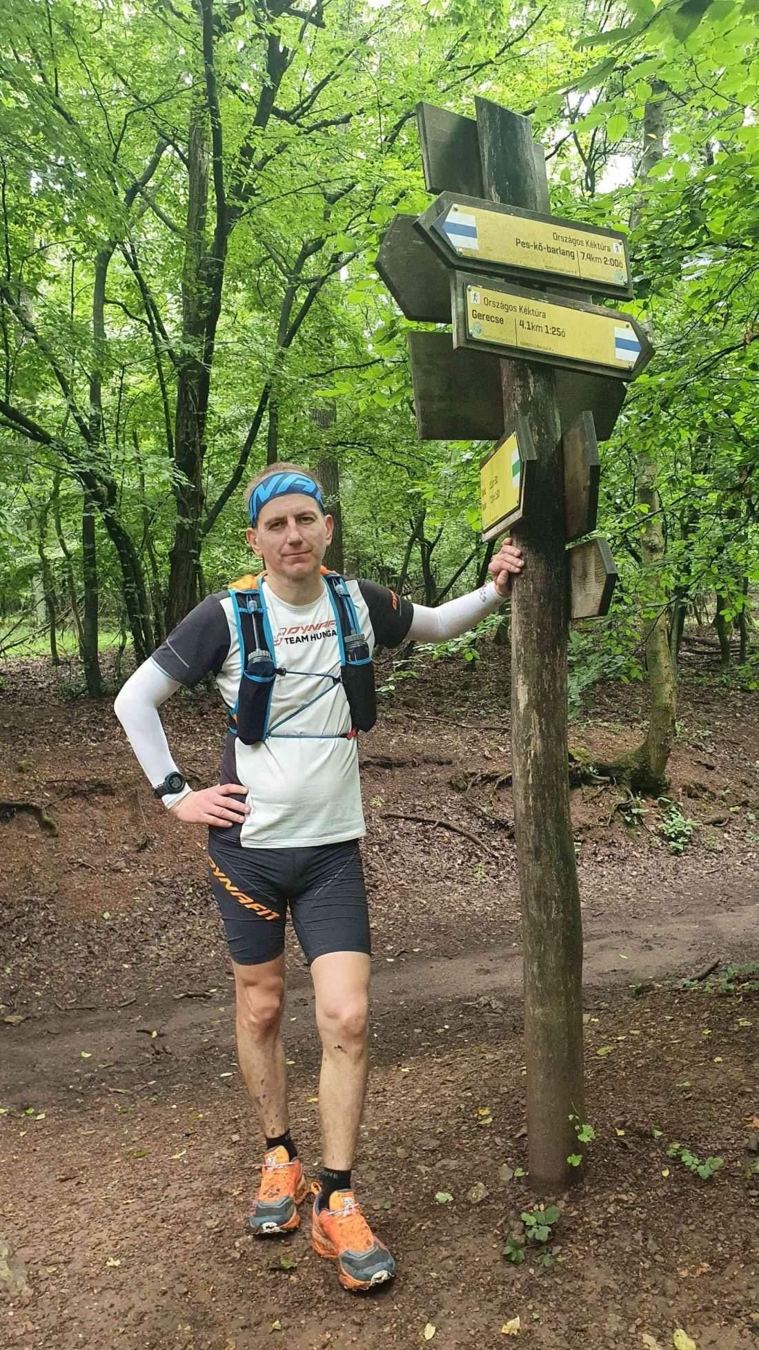 Kovács Józsi Gerecsei hegyi maratont futott