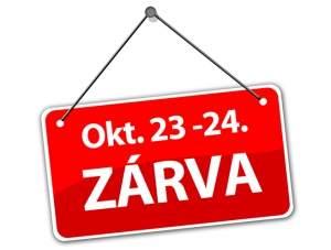 Október 23-24 - Zárva