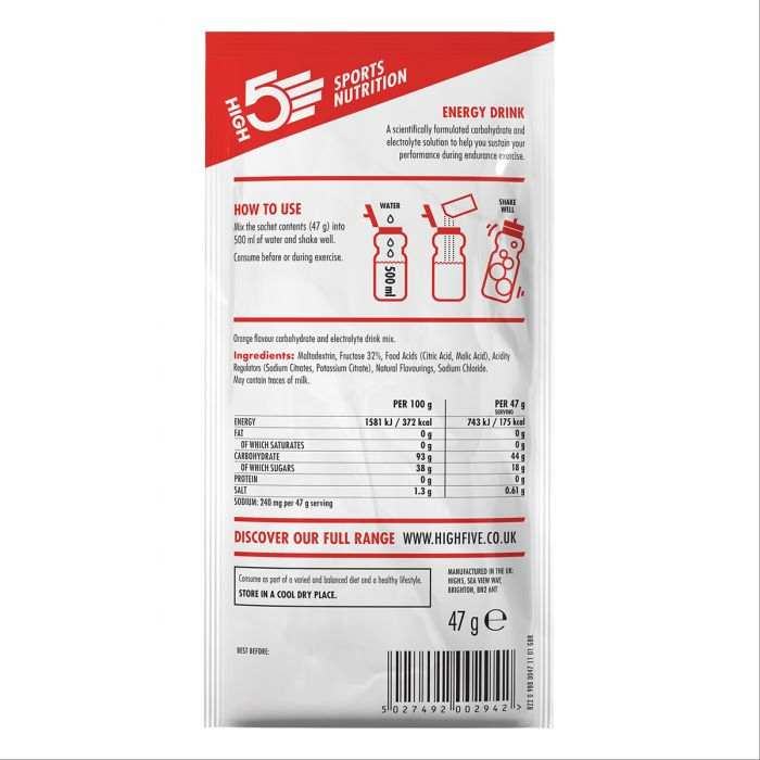 High5 2:1 Energy Drink Narancs (12x47g)