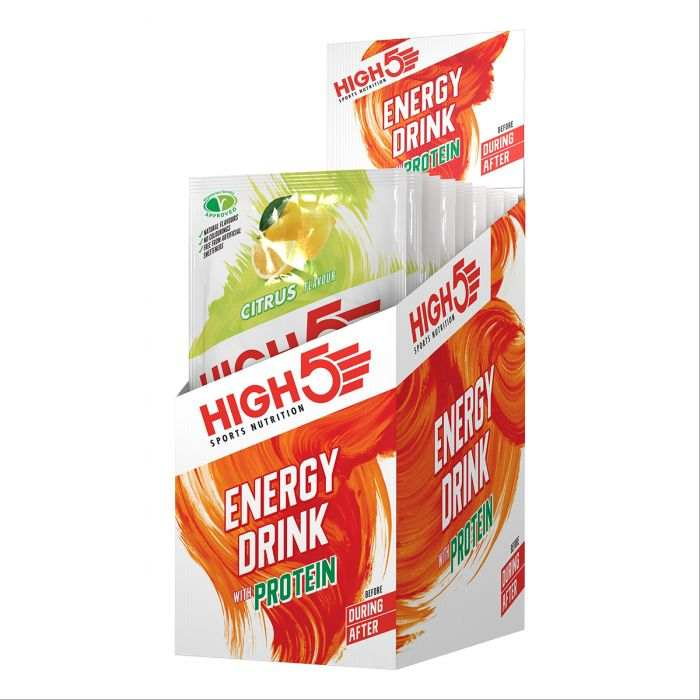 High5 4:1 Energy Drink + PROTEIN Citrom (12x47g)